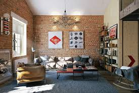 Bookshelves Living Room Fascinating Spectacular Industrial Loft Living Room Ideas Assorted With Knick