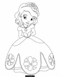 Printable Coloring Pages Disney Princess Ariel Colouring Baby