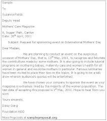 Proposal Letter For Sponsorship Sample For Event Sponsorship Proposal Letter Sample For Event Post Templates