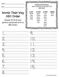 Word Patterns Cool Words Their Way Homework Within Word Patterns 4848 Yellow Book