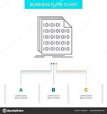 Binary Code Coding Data Document Business Flow Chart Design