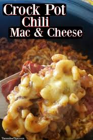 Here's the only recipe you'll ever need! Crock Pot Chili Mac And Cheese Recipe