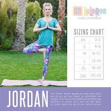 Jordan Fashions Size Chart Lularoe Jordan Size Chart 2017 In 2019 Lularoe Size Chart