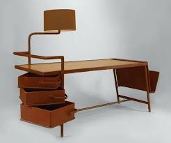 desk 1940s french desk with hinged lamp attributed to jacques adnet french mills computer desk