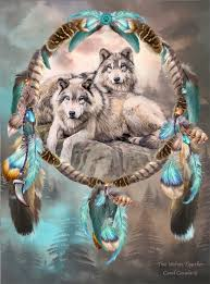 Dream Catcher Mentoring Dream Catcher Two Wolves Together by romanceworks Mixed Medium 55