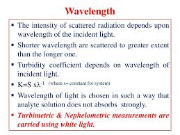 wavelength the intensity of tered radiation depends upon wavelength of the incident light