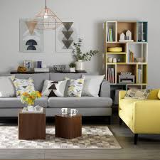 Yellow and grey living room ideas ...