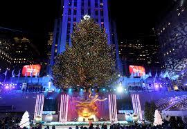Nbc Christmas Lighting 2018 Nyc Rockefeller Center Tree Lighting Chilly Evening
