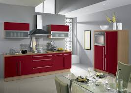 Red And Grey Kitchen Cabinets Grey And Red Kitchen Designs Cool Red  Cabinets And Grey Walls