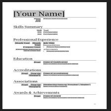 Free Modern Resume Template Word Professional Cv Format Doc Modern Resume Template Word Info Doc Free