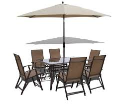 patio table and 6 chairs: n  piece santorini garden and patio set  chairs table tilt and