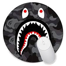 amazon round gaming mouse pad creative custom non slip mouse mat bape shark logo office s