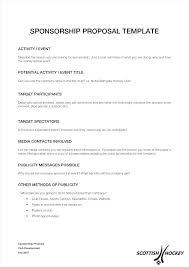 Cover Letter Proposal Motocross Sponsorship Resume Cover Letter