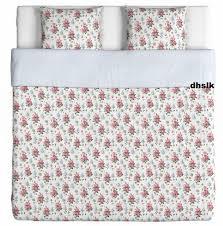 ikea emmie sÖt sot king duvet cover pillowcases set pink fl striped