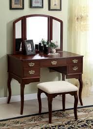 dark brown makeup vanity elegant interior design using vanity with fold down mirror interactive dark