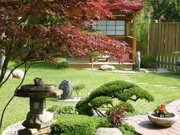 japanese garden design in the patio