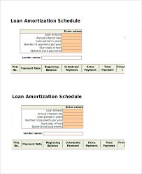 Loan Schedule Excel Template Amortization Schedule Template 5 Free Word Excel Documents