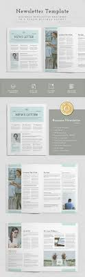 Newsletter Templates Pages 25 Modern Indesign Newsletter Templates