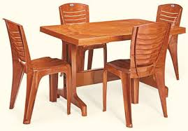round and square plastic folding dining table set