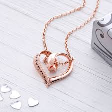 in my heart pendant sterling silver rose gold plated