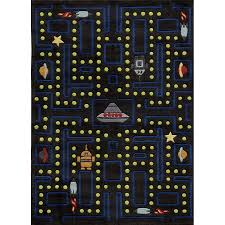 5 x 7 medium arcade game black area rug whimsy