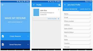 App Resume Comparison 5 Resume Builder Apps For Android Apps News
