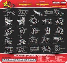 Ara Damage Locator Chart Ara Damage Locator A P Auto Parts