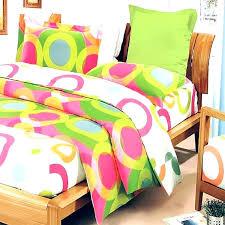 hot pink lime green circle dot teen girl bedding duvet cover set twin full queen king