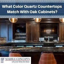 marble concepts what color quartz countertops match with oak cabinets