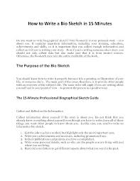 Outline For Writing A Biography Style Biography Sample For Yourself Bio Template Free Of