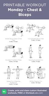 monday chest biceps my visual workout created at workoutlabs through to customize and as a free pdf customworkout
