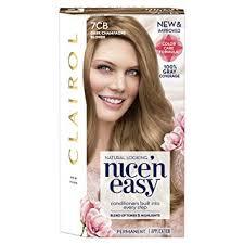 Clairol Nice N Easy 7cb 106b Dark Champagne Blonde Permanent Hair Color 1 Kit Pack Of 3
