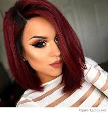 amazing short red hair and makeup