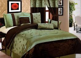 brown and green comforter set queen new 11 pc queen bedding sage green brown willow comfort