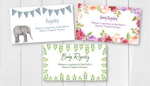 Baby Registry Announcement Cards Magdalene Project Org