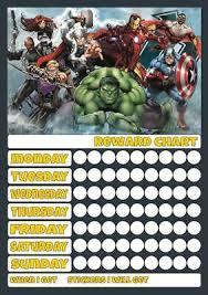 Avengers Potty Chart Magnetic Train Reusable Reward Chart Behaviour Potty Sen