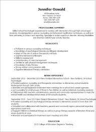 Resume Templates: School Psychologist