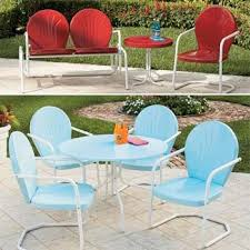 Stylish Vintage Metal Outdoor Table Retro Patio Furniture