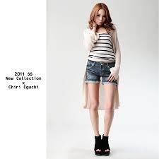 2014夏レディースデニムコーデ集シャツパンツスカートの着こなしは