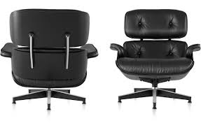 Eames Chair With Ottoman Ebony Eamesr Lounge Chair Without Ottoman Hivemoderncom