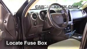 ford explorer sport trac engine air filter check  interior fuse box location 2007 2010 ford explorer sport trac