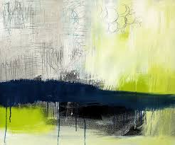 blue and green abstract painting turning point contemporary abstract painting by linda woods