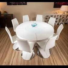 Round Kitchen Table White Large Round White Gloss Dining Table 8 White Z Shape Dining
