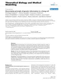 pdf uncertainty principle of genetic information in a living cell