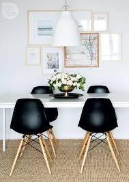 simple wood dining room chairs. condo tour: modern boho chic. black eames chairblack dining simple wood room chairs l