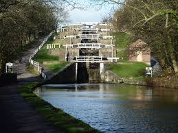 Bingley Five rise lock staircase Leeds Liverpool Canal