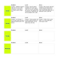 Monthly Planner Excel 7 Day Menu Plan Template Monthly Meal Planner Excel Weekly Food