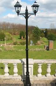 Small Picture Garden Lighting Victorian Style Double Headed Garden Lamp Post