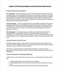 10 Letter Of Recommendation Samples Writing Letters