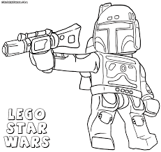 Lego Starwars Coloring Pages - FunyColoring